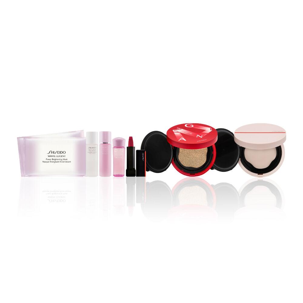 Synchro Skin 感肌同步亮澤氣墊粉底限量版及亮肌妝前粉霜組合 (總值 HK$1,370),